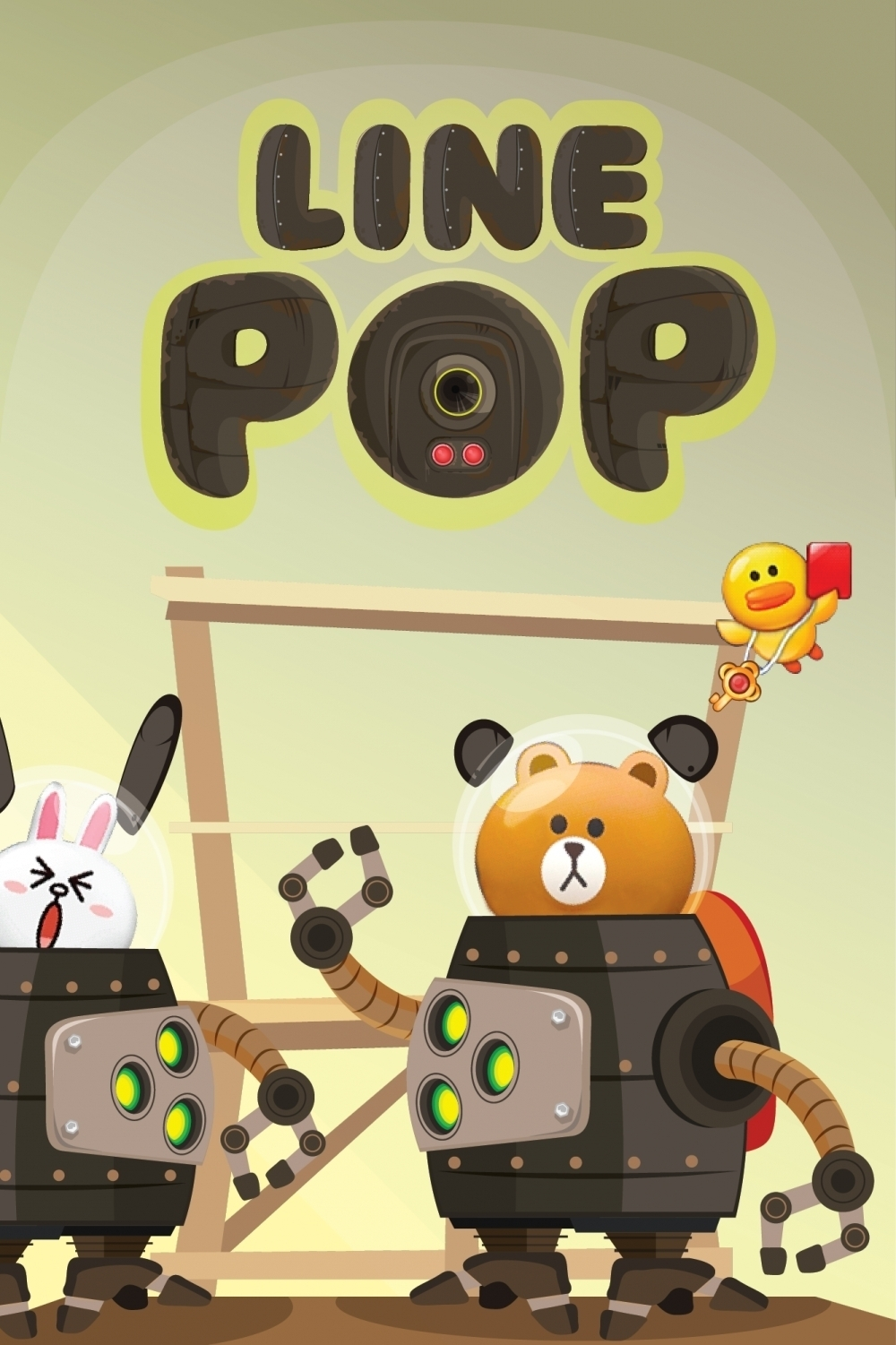 LINE POP UI MECH Version by Sefilianto  (sefilianto5),desain game,desain grafis,ilustrasi,user interface design