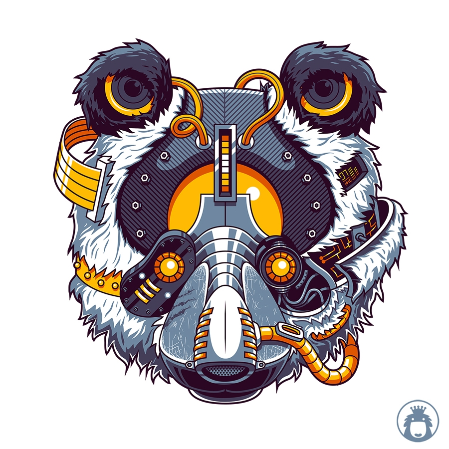 Panda of Steel by Angga Tantama (anggatantama),seni digital,desain grafis,ilustrasi,user interface design