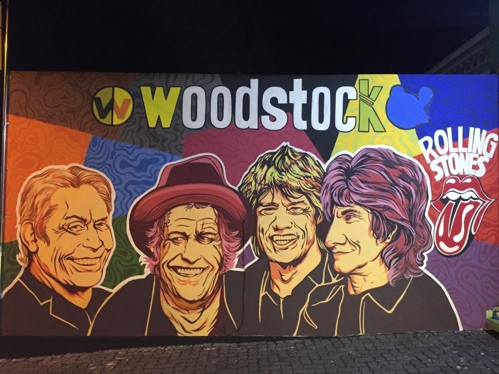 Woodstock Studio Exterior Mural/Street art by Romi Hakusu (Romihakusu),fine art,graffiti,ilustrasi,mural,street art