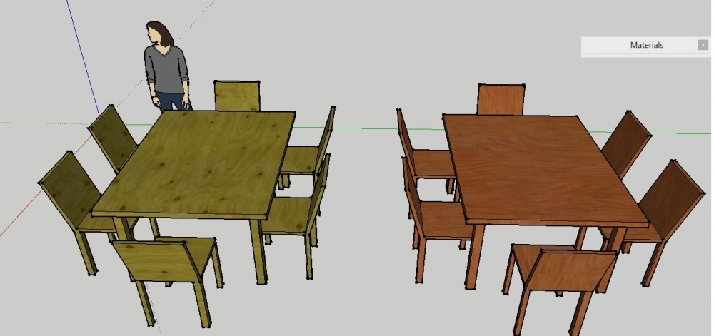 CHAIRS TABLE SET 3d by mety parmiati (mety),3d modelling,arsitektur