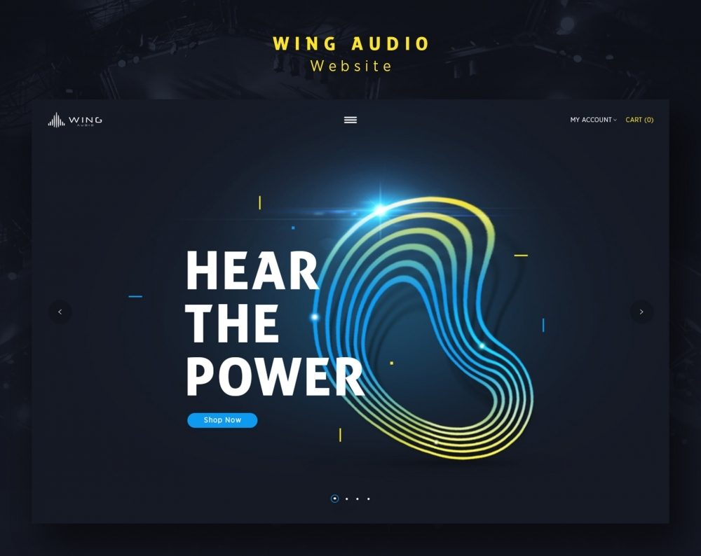Wing Audio - Website by Kukuh Andik (Kuatur),branding,desain grafis,user interface design,desain website