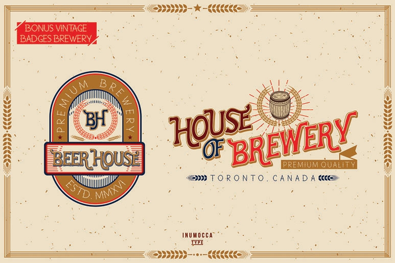 HOUSE OF GLORY FAMILY FONT ® by inumocca (inumocca),tipografi